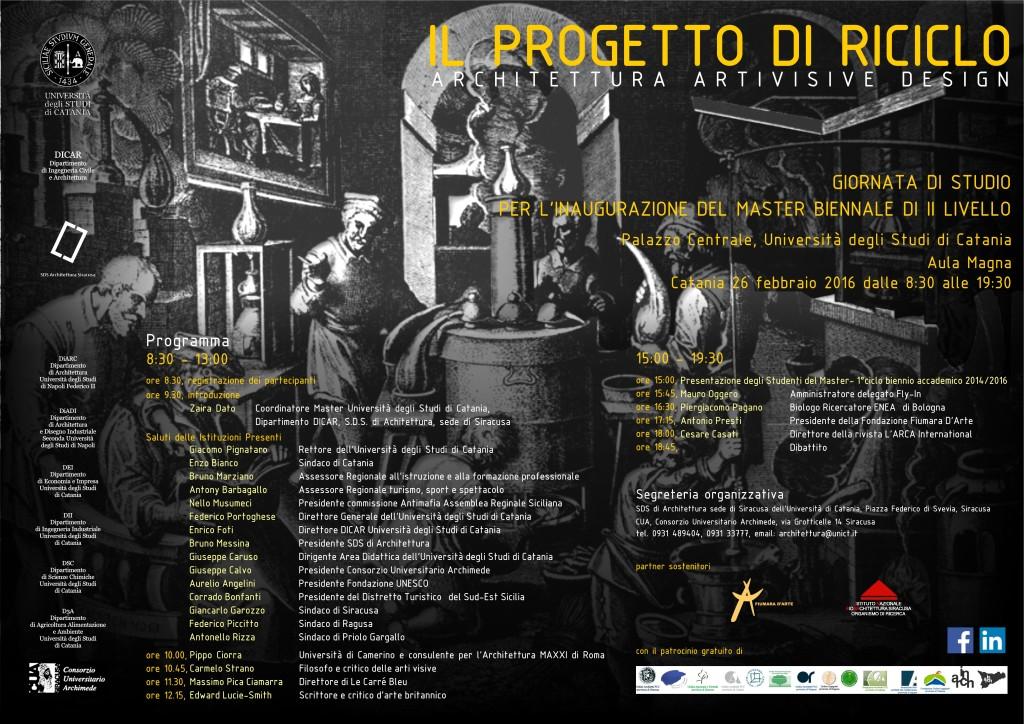 Locandina 26 febbraio MASTER IL PROGETTO DI RICICLO