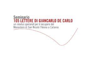 Seminario 105 lettere di Giancarlo De Carlo