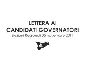 Lettera ai candidati governatori Sicilia 2017
